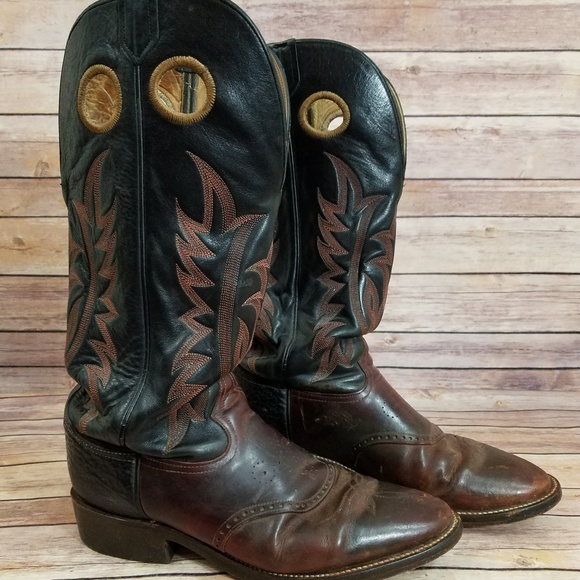 4503ce8c66b Tony Lama 10.5 EE Buckeroo Boots Leather 6861